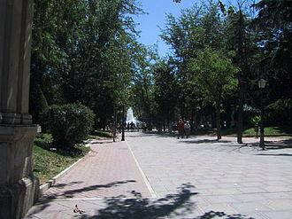Guadalajara, Castilla–La Mancha - Principal avenue of the Concordia Park