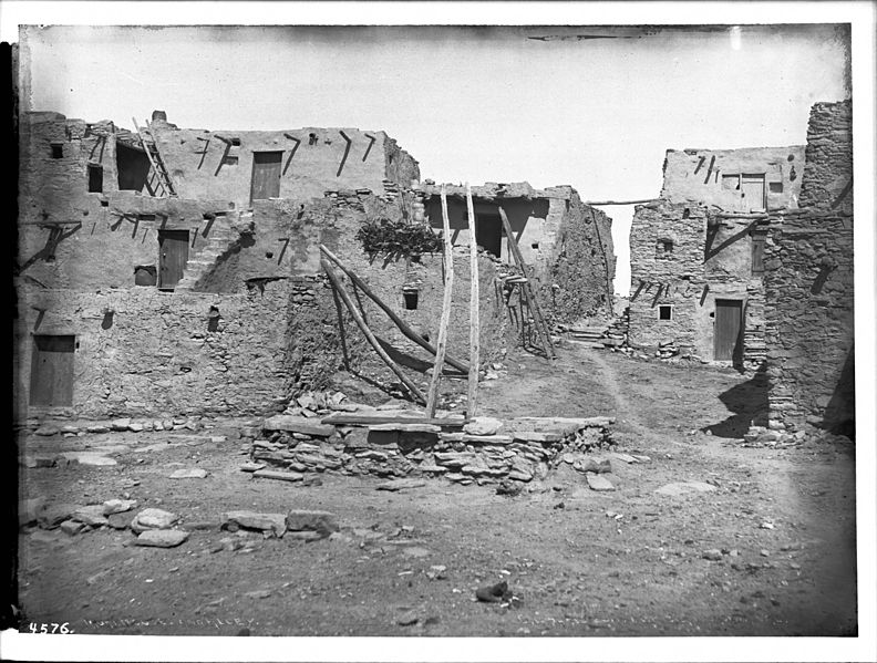 File Part Of A Hopi Indian Pueblo Including Houses Moki