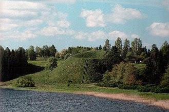 Prienai - The Paukščiai mound is one of the many established in the area.