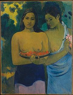 Paul Gauguin - Deux Tahitiennes