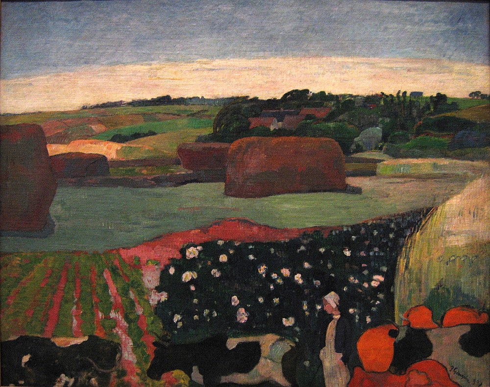 Reproduction d'un tableau de Paul Gauguin.