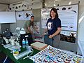 Paul Marek ^ Wendy Moore at the UA Insect Collection booth - Flickr - treegrow.jpg
