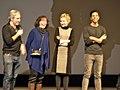 Paul Weitz, Lily Tomlin, Julia Garner and Mo Aboul-Zelof at Sundance 2015.jpg
