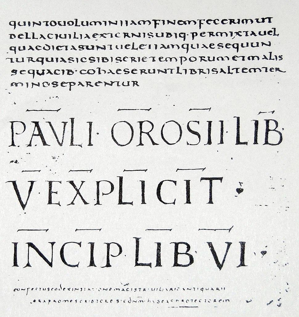 Paulo Orosio - Lámina siglo VI