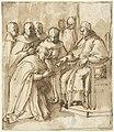 Paus Paulus III geeft de Dominicanen opdracht om talen te onderwijzen, RP-T-1981-40.jpg