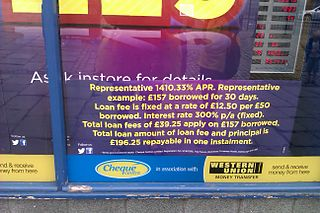Payday loans in the United Kingdom