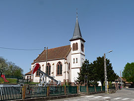 The church in Pechelbronn