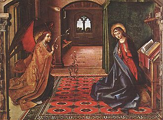 Pedro Berruguete - The Annunciation, c. 1505, Cartuja de Miraflores (Burgos)