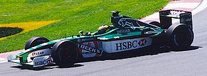 Pedro de la Rosa - De la Rosa driving for Jaguar at the 2001 Canadian Grand Prix
