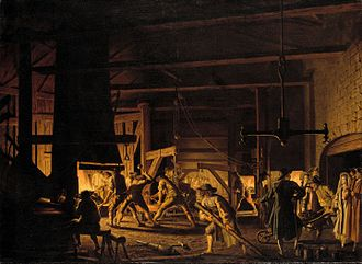 Pehr Hilleström - File:Pehr Hilleström d.ä. - In the Anchor-Forge at Söderfors. The Smiths Hard at Work - Google Art Project.jpg