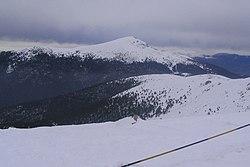 View of the Peñalara peak, the range's highest peak