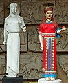 Peplos Kore, cast and reconstruction, Cambridge Museum of Classical Archaeology, 154248.jpg