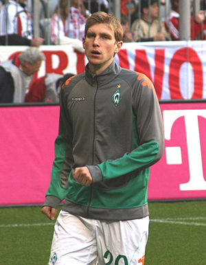 Per Mertesacker - Mertesacker playing for Werder Bremen.