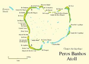 Peros Banhos - Map of Peros Banhos