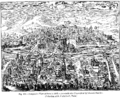 Perspective View of Paris in 1607 Fac simile of a Copper plate by Leonard Gaultier Collection of M Guenebault Paris.png