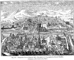 Léonard Gaultier - Perspective view of Paris in 1607