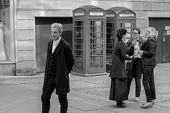 Peter Capaldi as Doctor Who filming in Cardiff June 2014.jpg