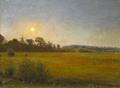 Peter Tom-Petersen - Aftenstemning på en mark - 1900.png
