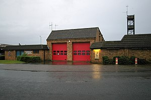 Peterborough Volunteer Fire Brigade - Peterborough Volunteer Fire Station, built 1984.