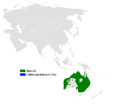 Petrochelidon ariel distribution map.png