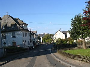 Pfalzfeld - Hauptstraße in the village centre