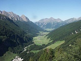 Pfitsch - View through the Pfitschtal towards Pfitsch
