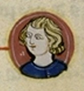 Philip V of France - Contemporary picture from the L'arbre généalogique Bernard Gui, Généalogie des rois de France
