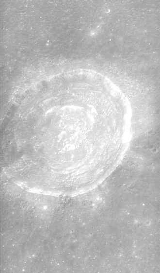 Picard (crater) - Oblique Apollo 15 Panoramic Camera image, facing south
