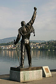 The statue of Freddie Mercury in Montreux that is also featured on the cover of the album Made in Heaven (1995).