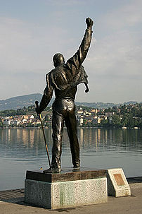 The statue of Freddie Mercury in Montreux that...