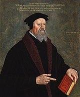 Пётр Мартир Вермильи. Портрет работы Ганса Аспера, ок. 1560 года