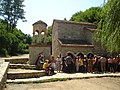 Pilgrims in Bodbe Monastery, Georgia.JPG