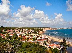 Vista panorâmica da Praia da Pipa.