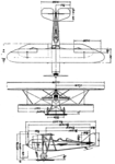 Pitcairn PA-2 Sesquiwing with OX-5 motor 3-view Le Document aéronautique February,1927.png