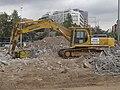 Plaça de Glòries - setembre 2014 Excavadora Komatsu.JPG