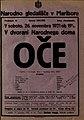 Plakat za predstavo Oče v Narodnem gledališču v Mariboru 26. november 1921.jpg