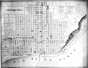 Yellow fever in Buenos Aires - Map of the City of Buenos Aires in 1870