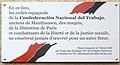 Plaque Confederación Nacional del Trabajo, 33 rue des Vignoles, Paris 20.jpg