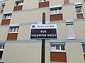 Plaque Rue Valentin Haüy - Rosny-sous-Bois (FR93) - 2021-04-15 - 2.jpg
