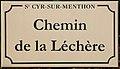 Plaque chemin Léchère St Cyr Menthon 5.jpg