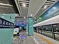 Platform 1, Baiyun Airport North Railway Station 20210102-A.jpg
