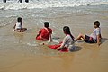 Playful Family with Sea Waves - New Digha Beach - East Midnapore 2015-05-03 9785.JPG