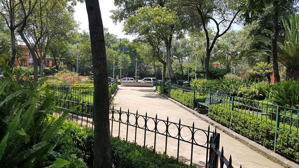 Plaza de San Jacinto en San Ángel, Ciudad de México, México