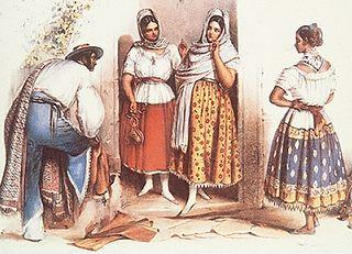 China poblana traditional womens dress of Mexico