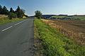Pohled na obec od severu z hlavní silnice, Luká, okres Olomouc.jpg