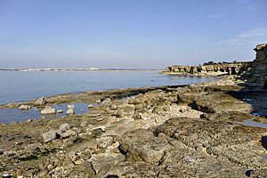 Angoulins - Chay Point at Angoulins-sur-Mer, a popular place for geologists