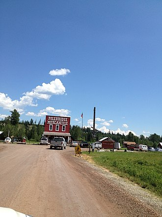 National Register of Historic Places listings in Flathead County, Montana - Image: Polebridge Mercantile