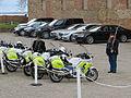 Polizeimotorräder vor dem Sonderburger Schloss am 18. April 2014, Bild 01.JPG