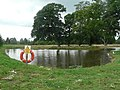 Pond at Hinton Woodland Burial Ground - geograph.org.uk - 508342.jpg