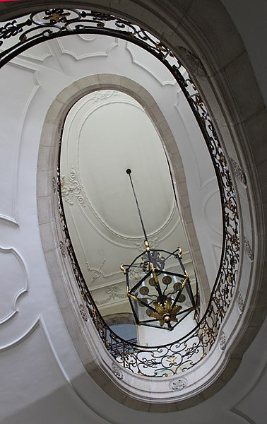Pont-à-Mousson, Norbertine abbey, staircase